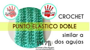 Cómo Tejer Punto Elástico Doble a Crochet Similar a Dos Agujas