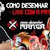 Confira na íntegra a LIVE do Curso Como Desenhar Mangá por Thiago Spyked e Suu Hideto