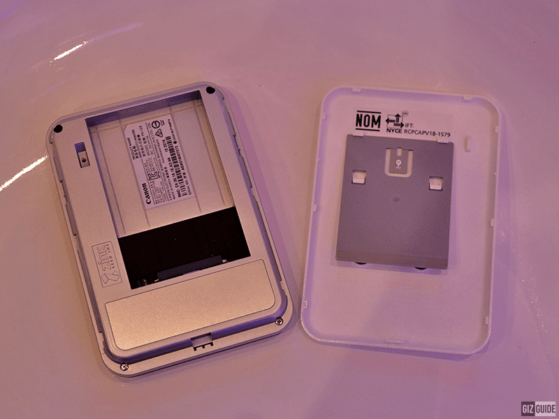 Photo paper compartment