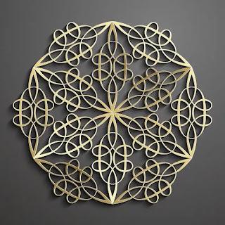 تحميل باترن إسلامي ثلاثي الأبعاد باللون الذهبي 5