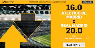betfair supercuota liga derbi Atletico v Real Madrid 28-9-2019