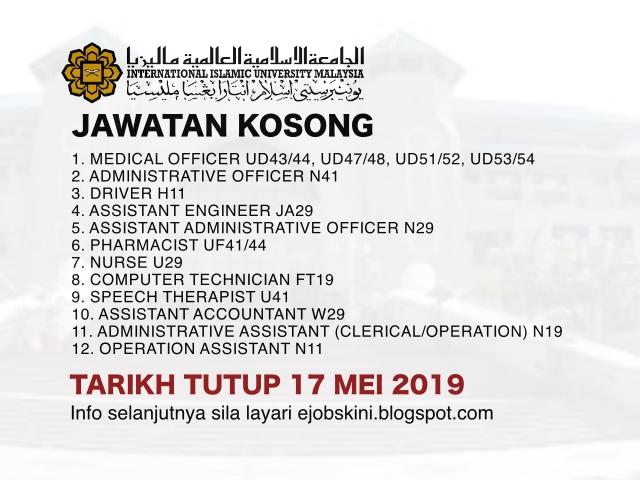 Jawatan Kosong Universiti Islam Antarabangsa Malaysia Uiam Tarikh Tutup 17 Mei 2019