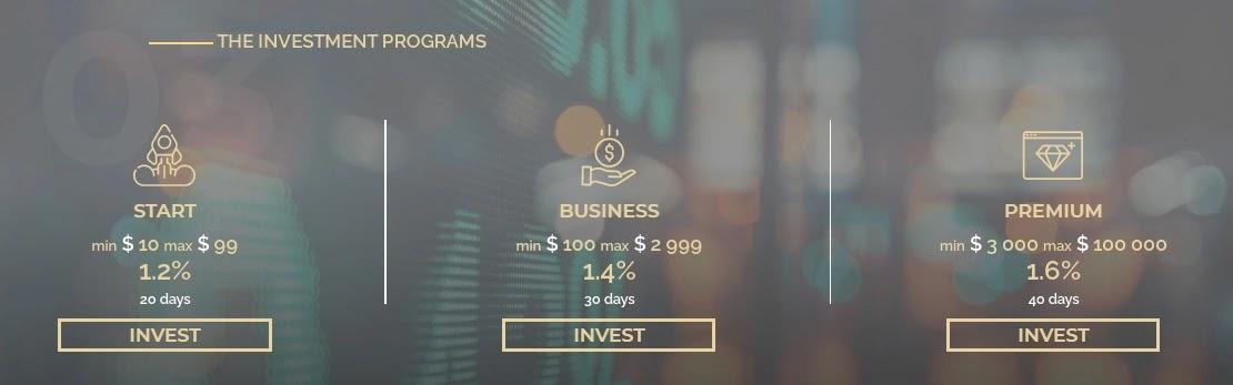 Инвестиционные планы Top Income