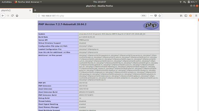 Cara Install dan Konfigurasi nginx dengan PHP di ubuntu