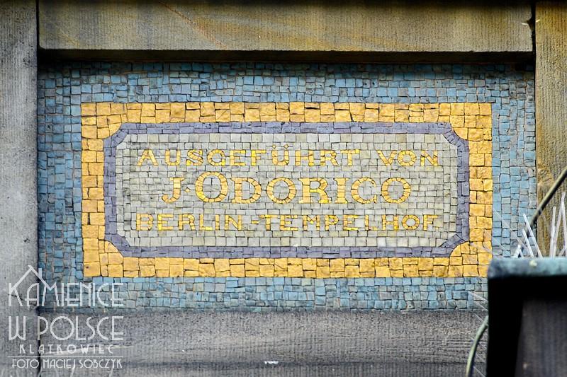 Poznań. Mozaika. Johann Odorico Berlin-Tempelhof