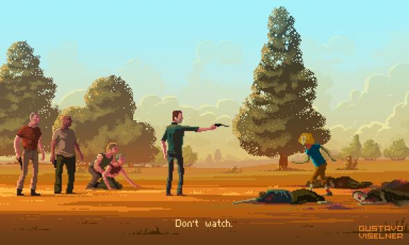 Gustavo Viselner ilustrações pixel art filmes tv referências The Walking Dead