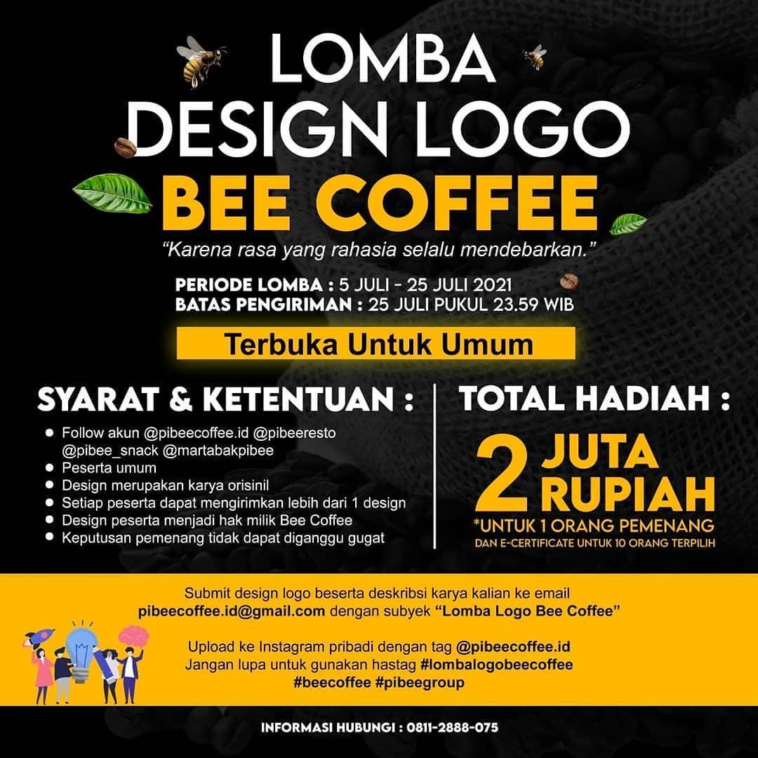 Lomba Desain Logo Berhadiah 2 Juta Rupiah oleh Bee Coffee