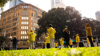Falun Gong practitioners are a familiar sight in many cities across the world, calmly practicing their exercises in parks. Many say the spiritual movement's practices lead to improved health and healing.