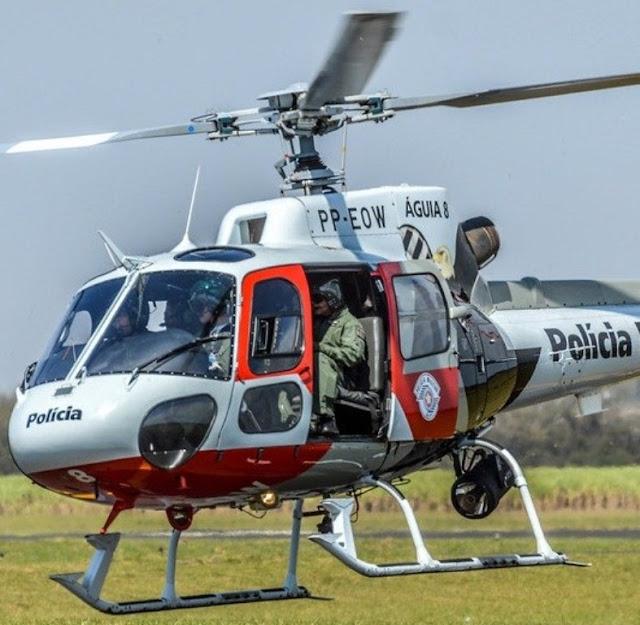 Ladrão de residência é preso e outro procurado pelo Helicóptero Águia
