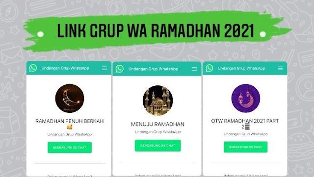 2021+ Link Grup Wa Ramadhan 2021 Indonesia