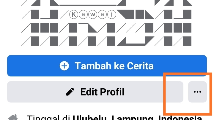 Cara copy link facebook kita