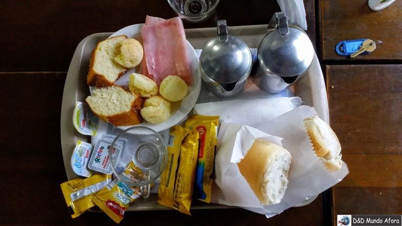 Bandeja de Café da manhã - Onde ficar em São Paulo - Review hotel Lua Nova