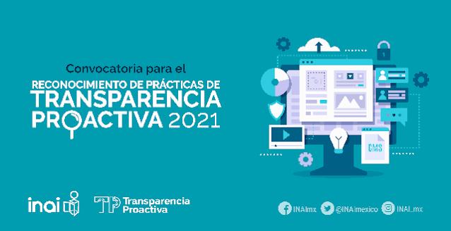 Convoca INAI a instituciones públicas a participar en la evaluación y reconocimiento de prácticas de transparencia proactiva