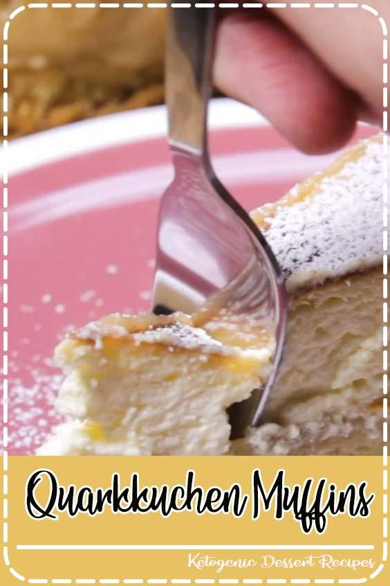 denn alle Zutaten werden ganz einfach zusammenger Quarkkuchen-Muffins