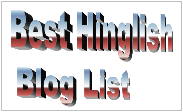 Best Hinglish Blog List