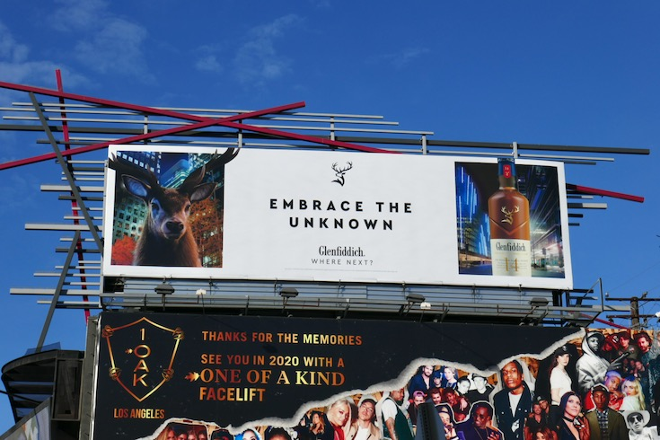 Embrace the unknown Glenfiddich billboard