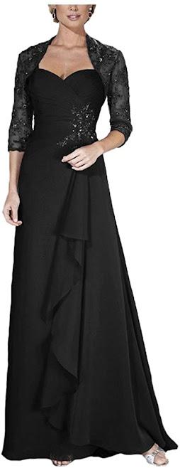 Black Mother of The Bride Dresses
