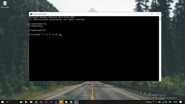 Cara Mengembalikan File yang Terhapus di Flashdisk Tanpa Software Dengan CMD