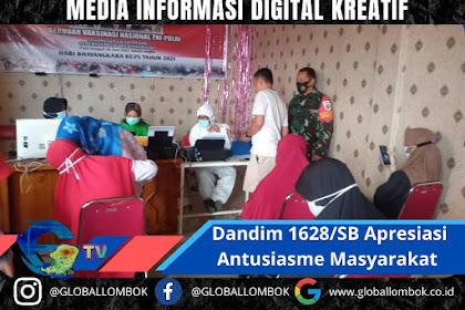 Dandim 1628/SB Apresiasi Antusiasme Masyarakat Sukseskan Vaksinasi Di Sumbawa Barat