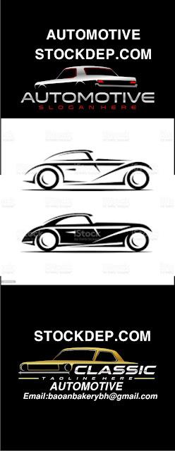 Classic car illustration, classic car logo, vintage car stock illustration FREE DOWNLOAD