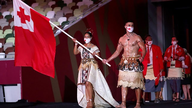 Traditional costumes attract attention at the Olympic opening ceremony