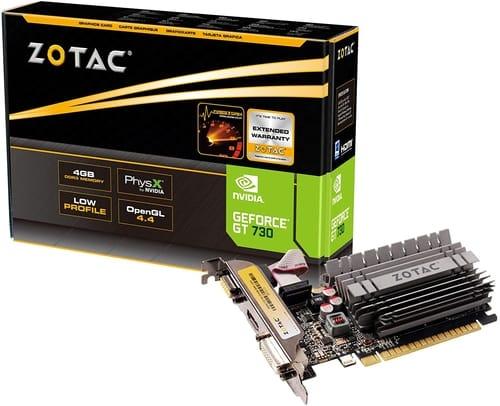 ZOTAC GeForce GT 730 Zone Edition 4GB DDR3