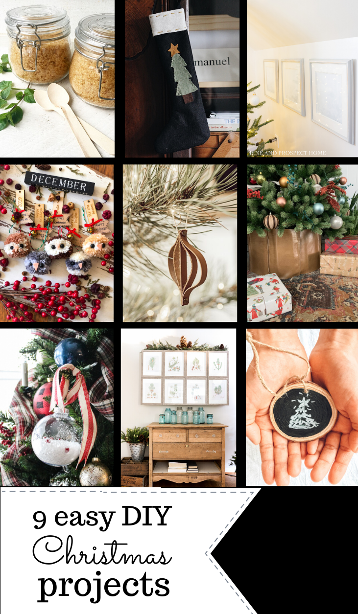 9 easy Christmas DIY decor ideas! Check out these Christmas craft ideas and make some new items to show off in your home!