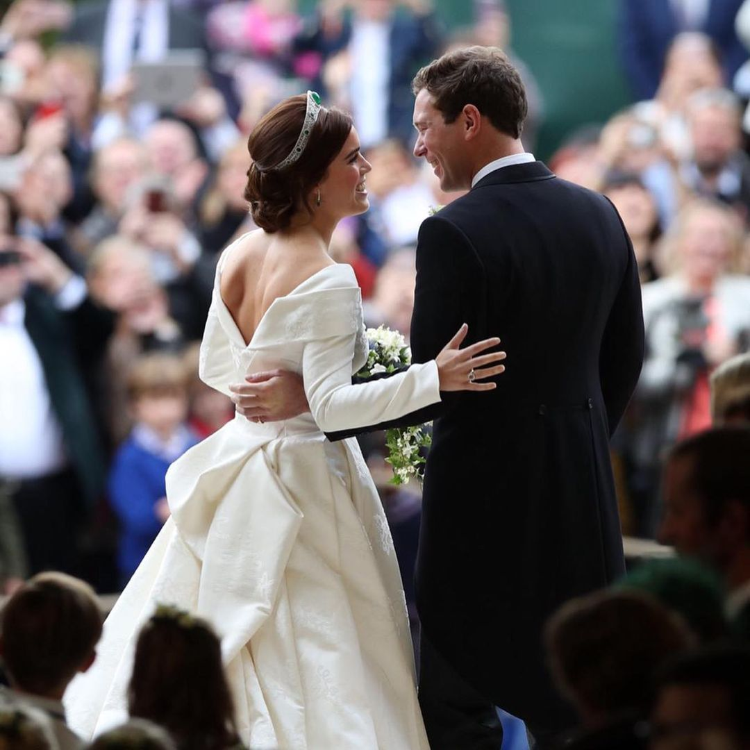 Eugenie married her long-time boyfriend Jack Brooksbank in October 2018 in a beautiful Autumn Wedding at the St. George's Chapel at the Windsor Castle.