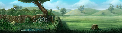 La disinfestazione del giardino dagli gnomi (Momento 3) - sfondo originale del mini-gioco