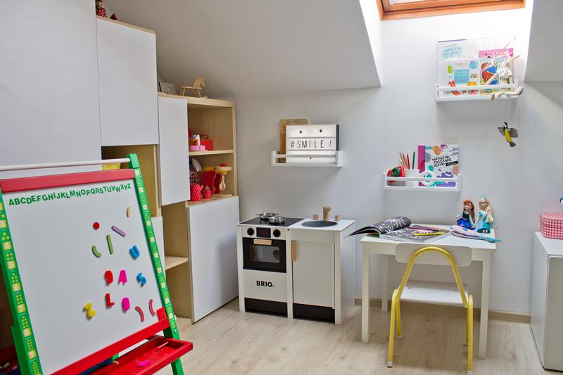 tablica na magnesy, lightbox, lampka z literkami, kuchnia brio, krzesełko szkolne diy
