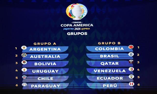 Así quedo el sorteo final Copa América 2020
