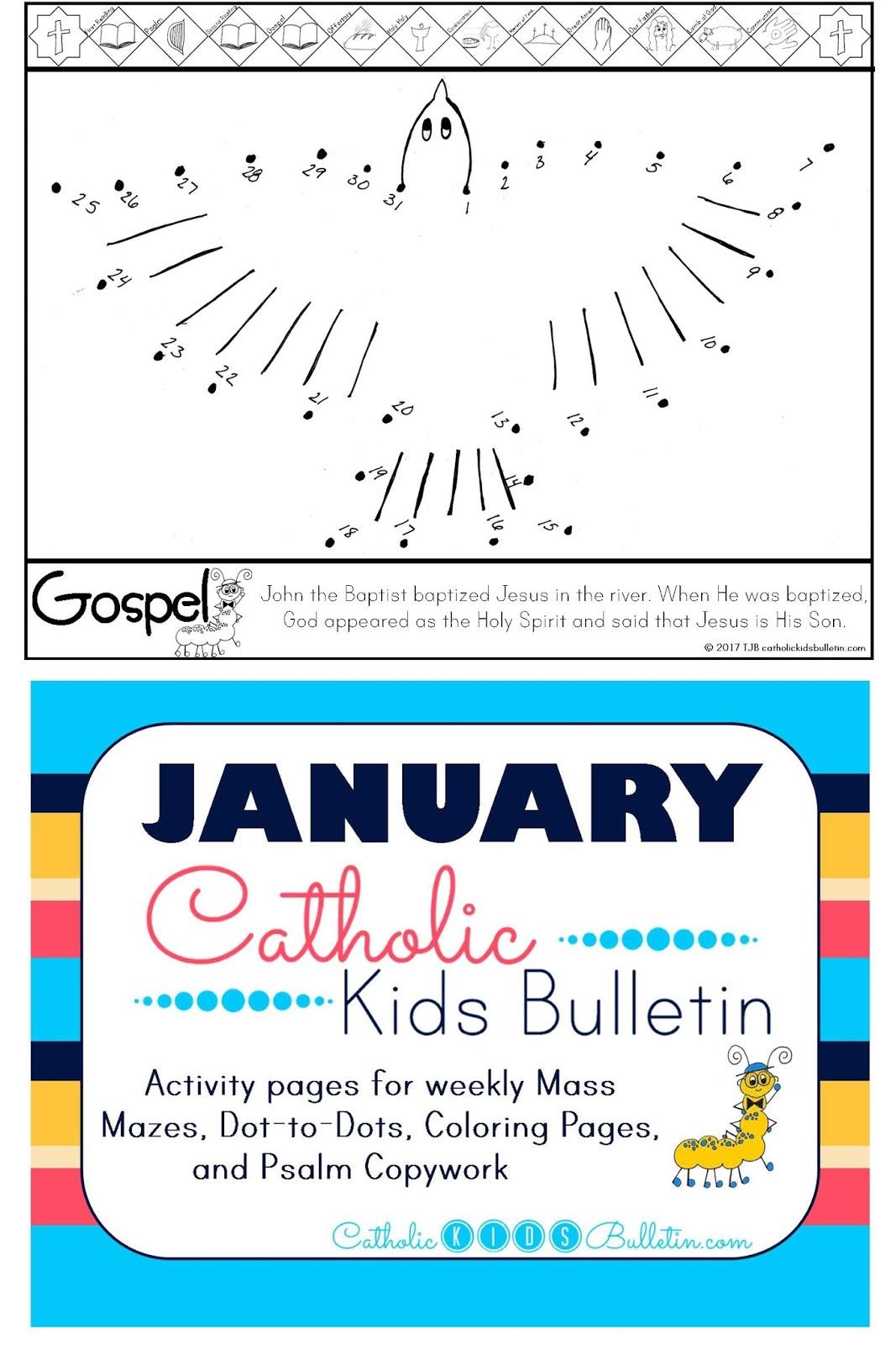 Catholic Kids January Catholic Kids Bulletin