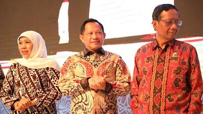 Mendagri Tito dan Menko Pulhukam Mahfud MD Memuji Gubernur Khofifah
