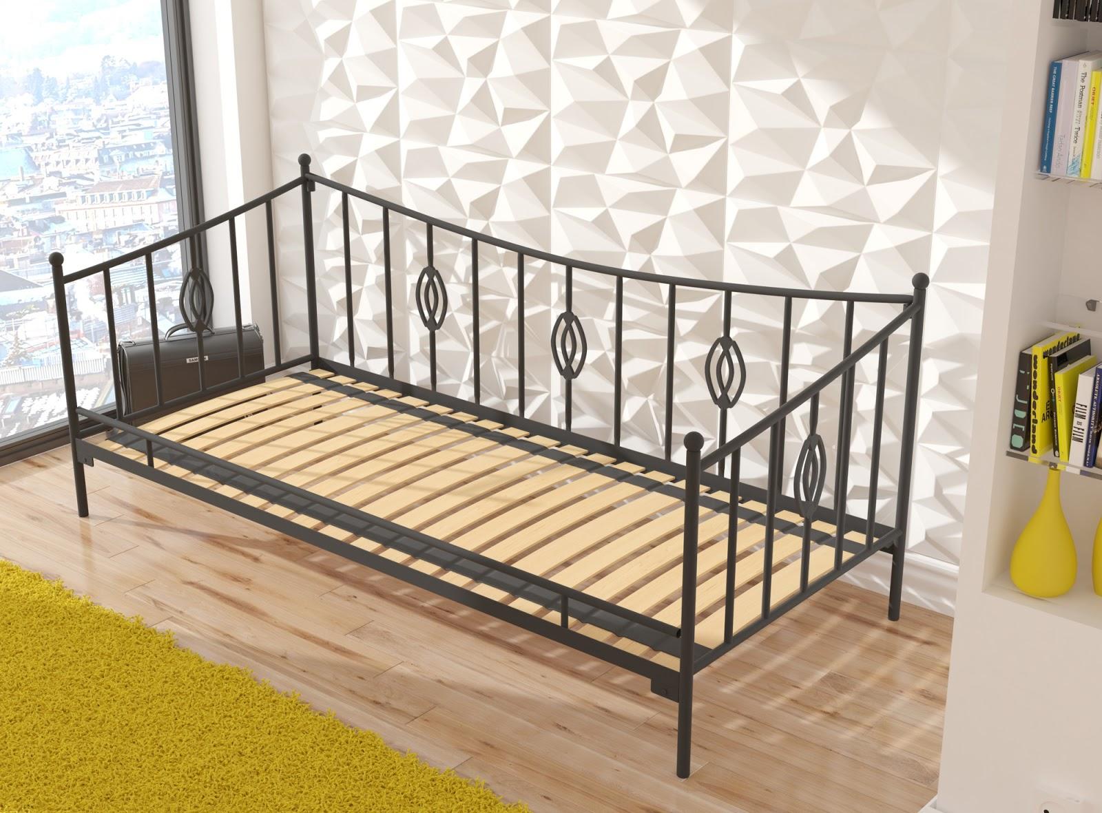Łóżko metalowe sofa wzór 31