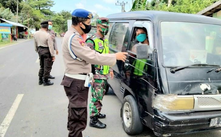 Puluhan Warga Terjaring Dalam Operasi Yustisi di Wilaya Kec.Mapsu Takalar