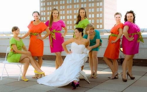 modelos de vestidos fluorescentes