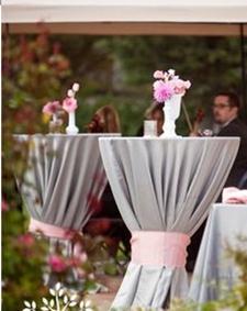 Details: Cocktail Table Linen Ideas