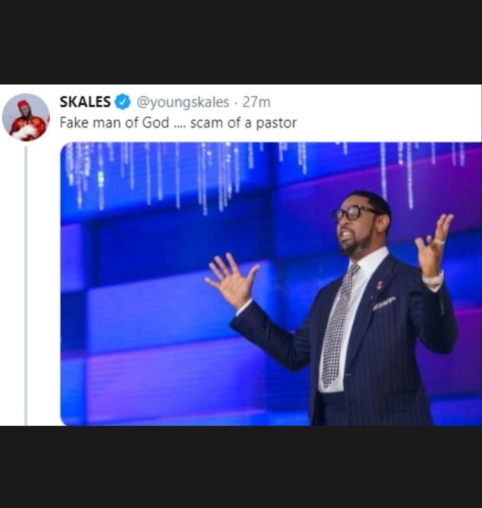 Skales Calls Biodun Fatoyinbo 'Fake Man Of God, Scam Of A Pastor