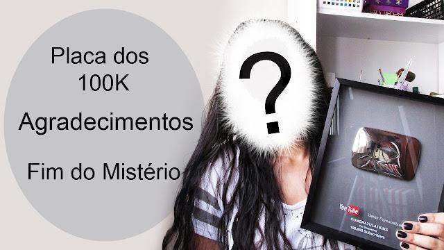 Carla Lopez Ideias Personalizadas DIY - Placa 100 mil inscritos