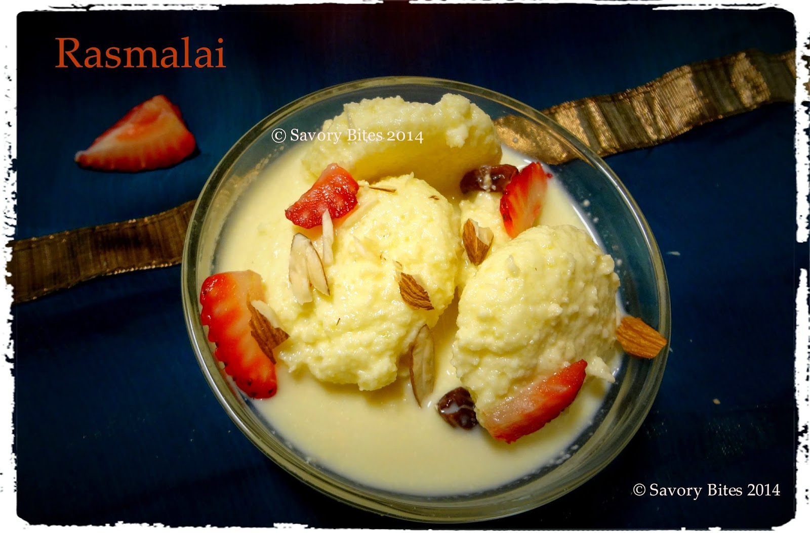 Rasmalai Cottage cheese dessert