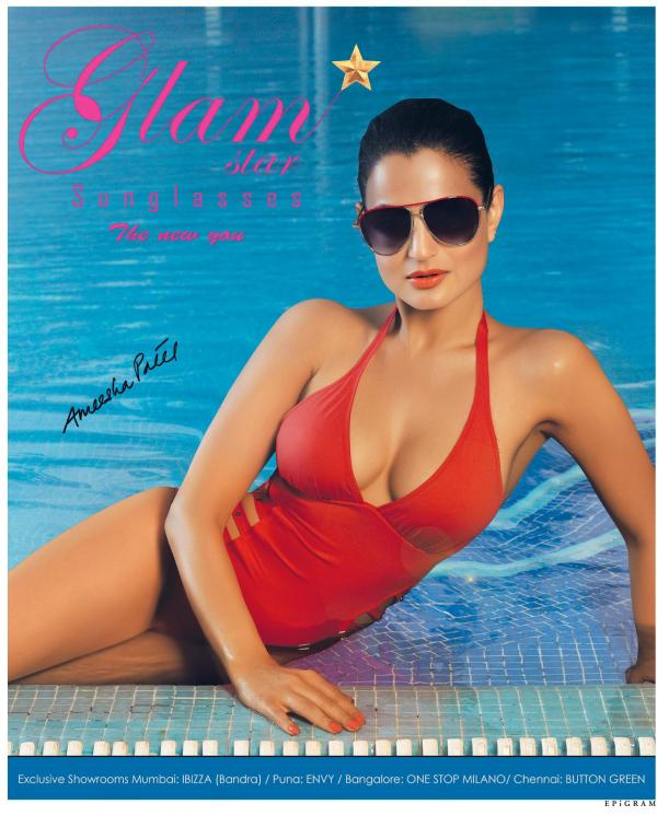 Ameesha Patel Bikini Hot photoShoot Glamstar Sunglasses