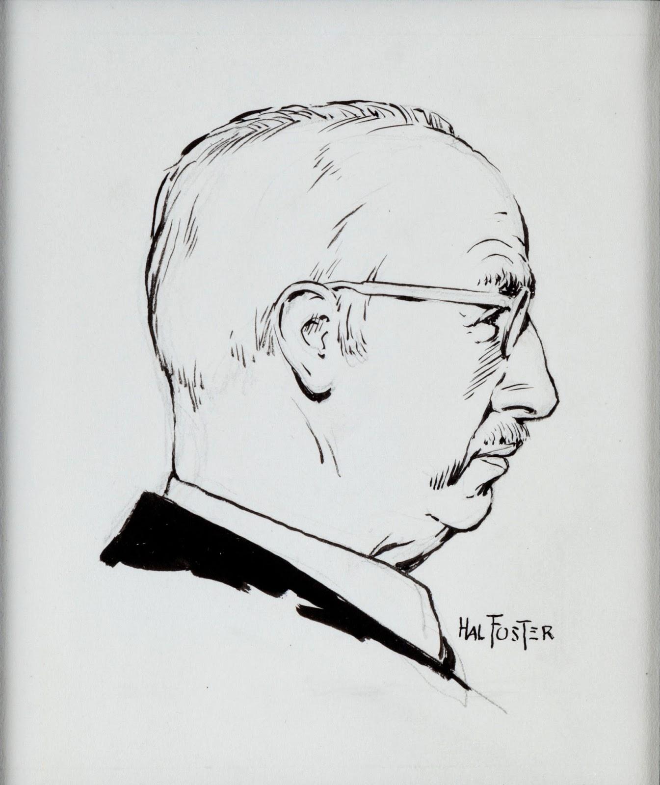 Comic Art: Hal Foster self-portrait and original Prince