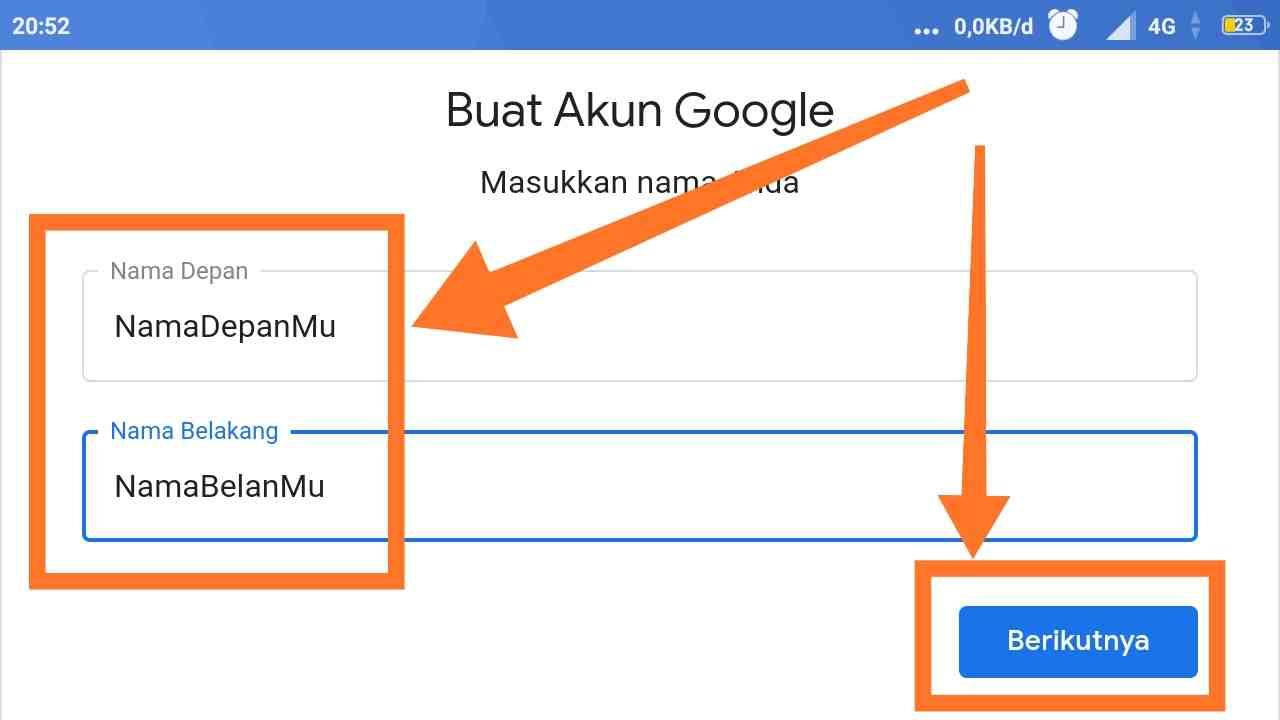 Cara membuat akun Google