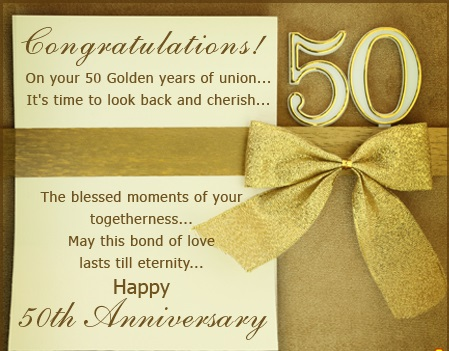 50th Anniversary Quotes - 50th Wedding Anniversary Wishes, Images