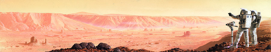Astronauts on Red Mars by Peter Elson