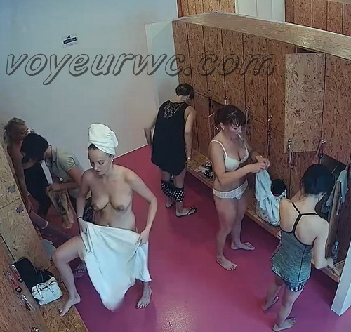 Changing room spy cam shoots women that came to the gym (Lockerroom 2128-2137)