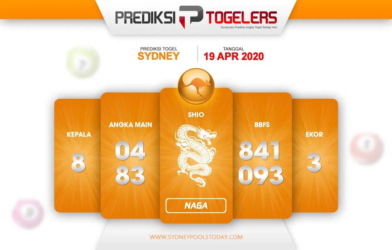 Prediksi Togel Sidney 19 April 2020 - Prediksi Togellers