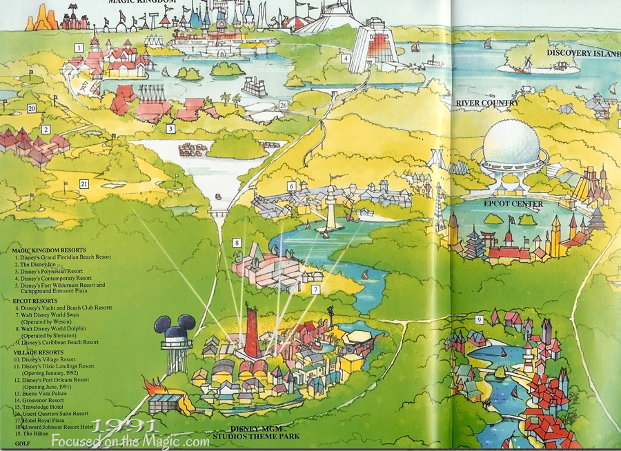 Park map from 1991