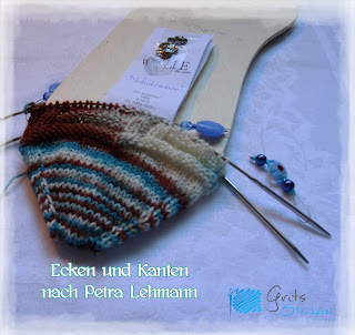 Grits Strickerei; Socken Ecken und Kanten, Addi Sockenwunder; toe-up Bändchenspitze