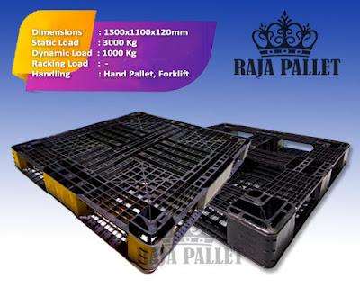 Pallet plastik bekas Ukuran 1300x1100x120 mm